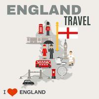 Manifesto di cultura per viaggiatori in Inghilterra vettore