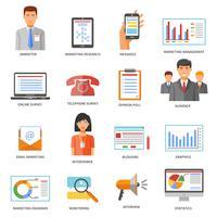 Icone colorate di marketing