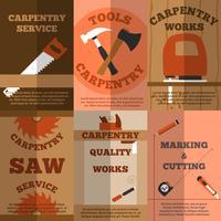 Manifesto di banner piatto carpenteria 6