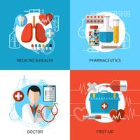 Concetto di design medico vettore