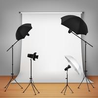 Concetto di design di Photo Studio vettore