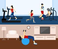 Banner di allenamento fitness vettore