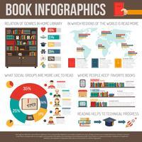 Libri che leggono la ricerca infografica Layout di presentazione vettore