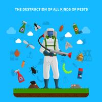 Concetto di controllo dei parassiti vettore