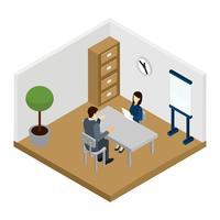Illustrazione di intervista di reclutamento vettore