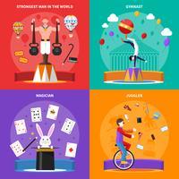 Set di icone di concetto di circo