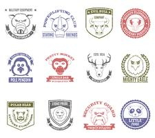 Set di francobolli di animali selvatici vettore