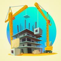 Fumetto di concetto di costruzione