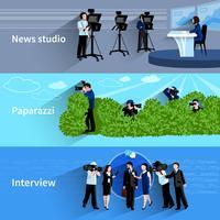 Set di banner di fotografo e videografo vettore