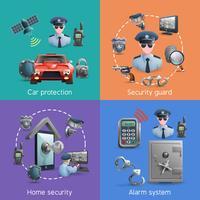 Set di concept design di sicurezza vettore