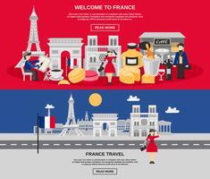 Set di banner di Francia vettore