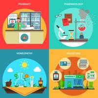 Set di concetto di farmacia vettore
