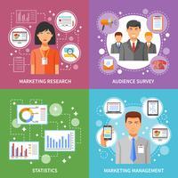 Metodo di marketing piatto vettore