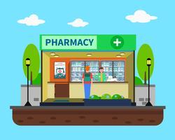 Illustrazione di concetto di farmacia