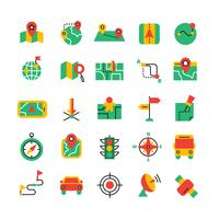 Set di icone di navigazione a colori