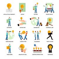 Icone della proprietà intellettuale vettore