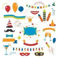 Set di celebrazione di vacanza vettore
