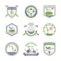 Set di emblemi di golf vettore