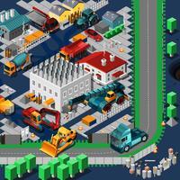 Concetto di macchine di costruzione isometrica
