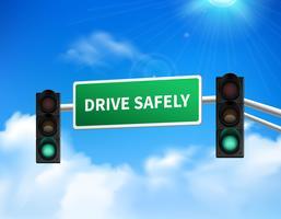 Guidare in modo sicuro l'icona dell'autoadesivo del segno commemorativo