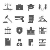 Set di icone di applicazione della legge