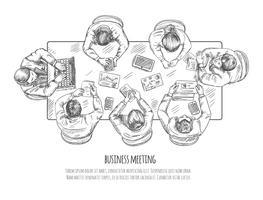 Schizzo di riunione d'affari vettore
