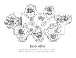 Schizzo di riunione d'affari