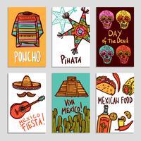 Set di poster del Messico vettore