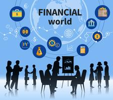 Insegna della composizione in concetto del mondo degli affari finanziari