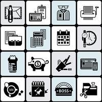 Set di icone di Office vettore
