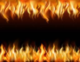 Set di bordi piastrellabili di fuoco vettore