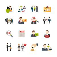 Set di icone di reclutamento vettore
