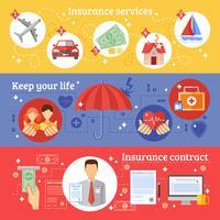 Set di banner assicurativi