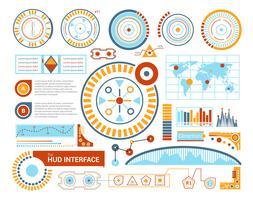 illustrazione piatta dell'interfaccia hud