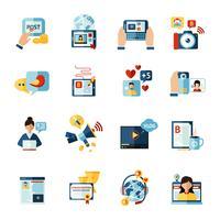 Set di icone di Blogger