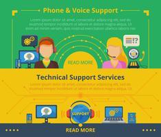 Banner di supporto clienti