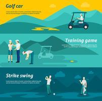 Set di banner piatto da golf vettore