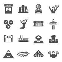 Set di icone della lotteria