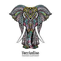 Illustrazione colorata elefante vettore