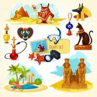 Set turistico in Egitto vettore