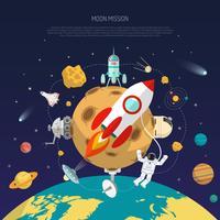 Concetto di missione spaziale vettore
