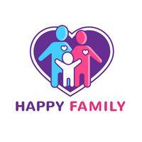 Famiglia Logo Illustration vettore