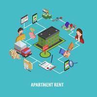 Concetto di affitto immobiliare vettore