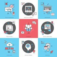 Set di icone di concetto di affari