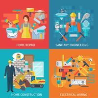 Set di riparazione casa vettore