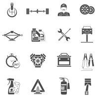 Icone di servizio auto nero vettore