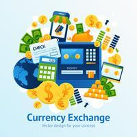 Illustrazione di cambio valuta