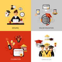 Set di concetti di design di laurea vettore