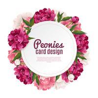 Peonia Frame Card Design