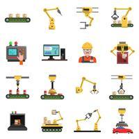 Set di icone di robot vettore